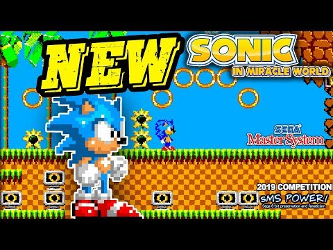 SONIC In Miracle World GamePLAY For SEGA MASTER SYSTEM