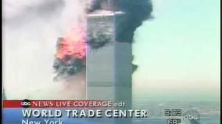 9.11テロ 2機目突入の瞬間 ABC 生中継 飛行機はCG? thumbnail