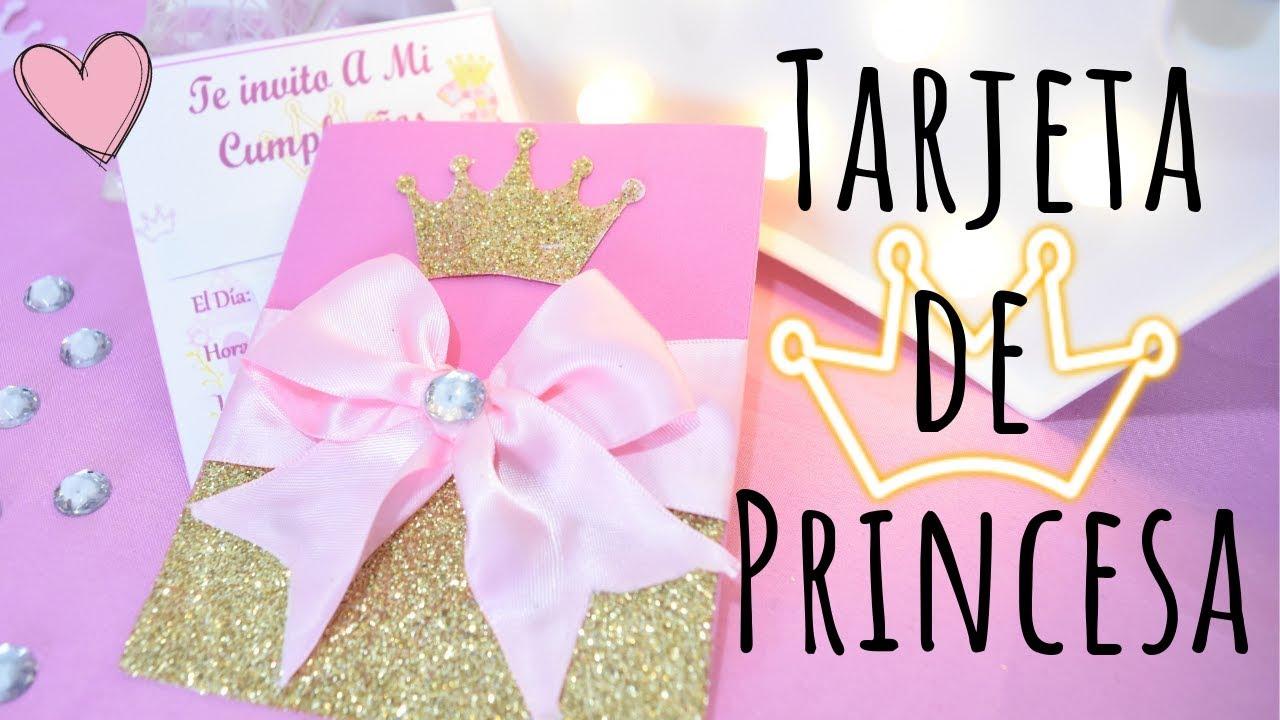 Tarjeta De Invitación Para Fiesta De Princesa Karol