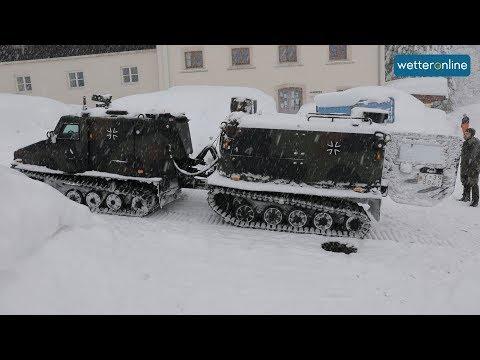 Bundeswehr hilft im Schneechaos (10.01.2019)