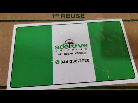 How I ship Foodstuff From Nigeria | Details about ADELOVE SHIPPING