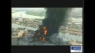 Incendie de dépôts d'hydrocarbures