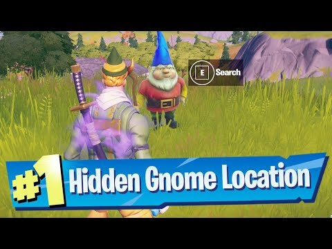 Search The Hidden Gnome Found In Between A Rack Track, A Cabbage Patch And A Farm Sign - Fortnite