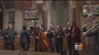 80s Band Oingo Boingo Performs At LA City Hall For 'Oingo Boingo' Day