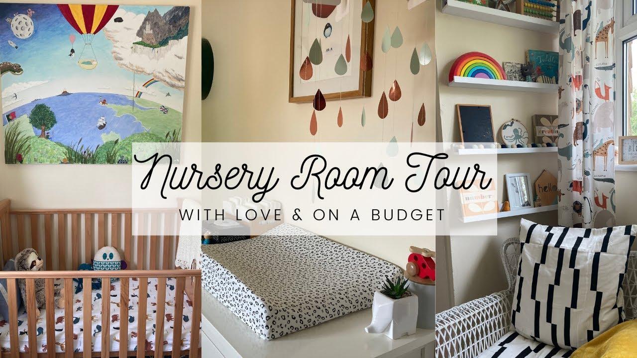 Baby Boy Nursery Room Tour - Tiny Room/Small Budget/UK Home
