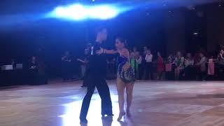 Nadia Kastenmeier & Joseph 2019 Windy City open ballroom dance competition samba