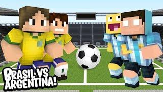 Minecraft Futebol BRASIL VS ARGENTINA! (TEVE GOLEADA!)