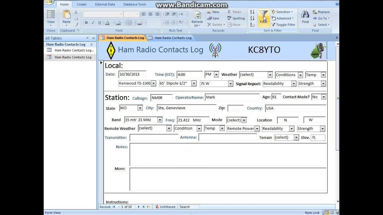 Tutorial - How To Search The Ham Call Log Contacts Database - YouTube - how to create call log template