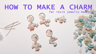How to make a charm for resin jewelry making 레진쥬얼리 펜던트 만들기 (…