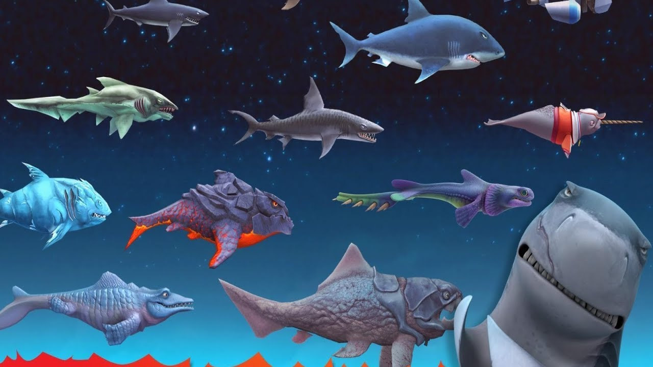 можете картинки всех акул из игры акула автомобили