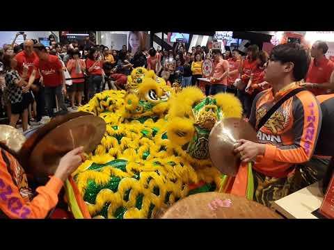 Singapore Jin Ann Lion Dance Cai Qing Performances at AMK Hub on 19/1/20