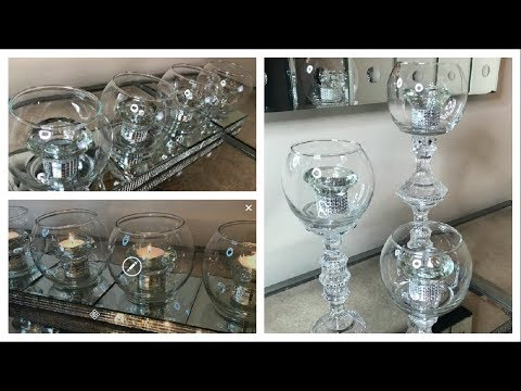 DOLLAR TREE GLAM CANDLE HOLDERS | (2) STYLES