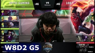 Video OpTic Gaming vs 100 Thieves | Week 8 Day 2 of S8 NA LCS Spring 2018 | OPT vs 100 W8D2 G5 download MP3, 3GP, MP4, WEBM, AVI, FLV Juni 2018
