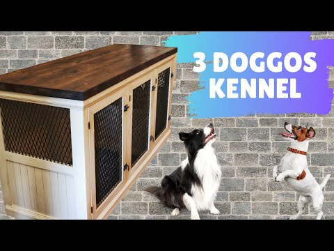 how-i-made-a-triple-dog-kennel-(with-removable-dividers)-//-woodworking