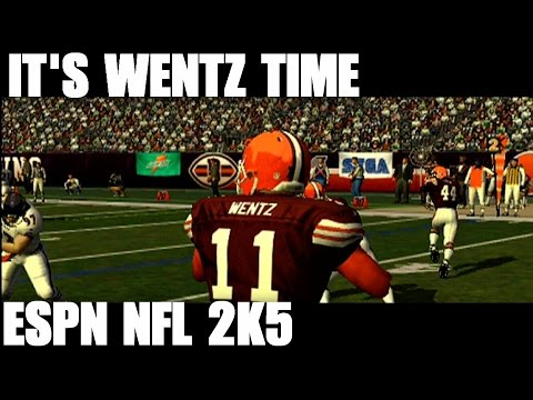 THE BROWNS AND CARSON WENTZ VS THE RAVENS  ESPN NFL 2K5 GAMEPLAY  YouTube