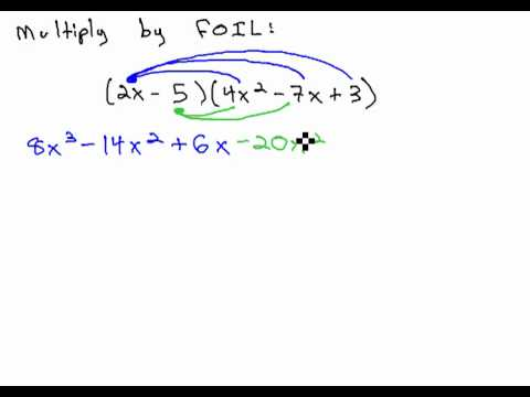 Multiply Binomial By Trinomial FOIL