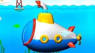 Submarine Assembly App Demo - Puzzle For Kids Build & Play Iphone, Ipad 3d [퍼즐, 만화, 노란 잠수함, 비틀즈]