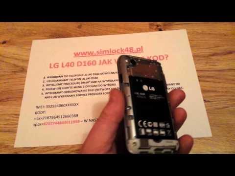 Simlock LG L40 D160 jak wpisać kod aby odblokować telefon