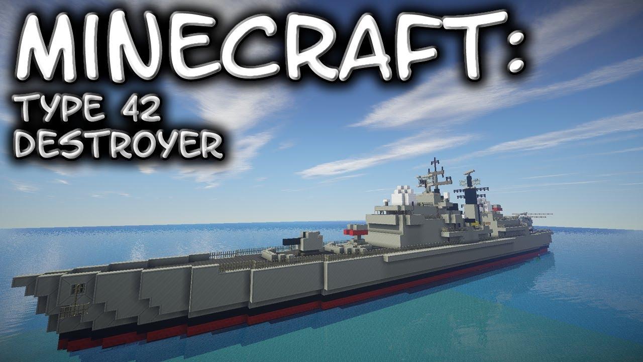 Minecraft Destroyer Tutorial Type 42 Sheffield Class