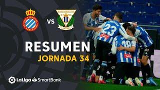 Resumen de RCD Espanyol vs CD Leganés (2-1)