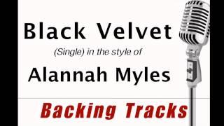 Black Velvet (in the style of Alannah Myles) MIDI backing track