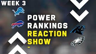 Week 3 Power Rankings Reaction Show!