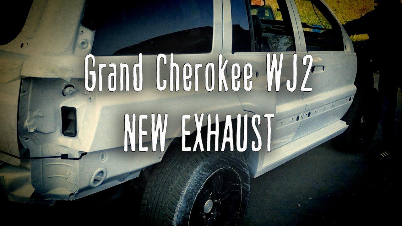 Сварили выхлоп на Чирка WJ V8   New Exhaust for Grand Cherokee WJ V8