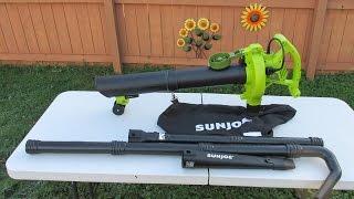 SunJoe Leaf Blower Vacuum Mulcher Gutter Cleaner Review SBJ606E-GA-SJG