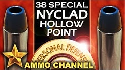 AMMOTEST: 38 Special Nyclad Hollow Point Self Defense vs. Lead Cast Bullet in Ruger SP101