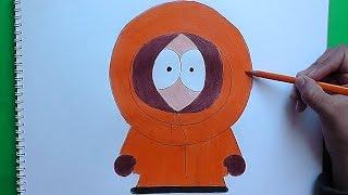 Dibujando a Kenny Mccormink (South Park) - Drawing Kenny Mccormink