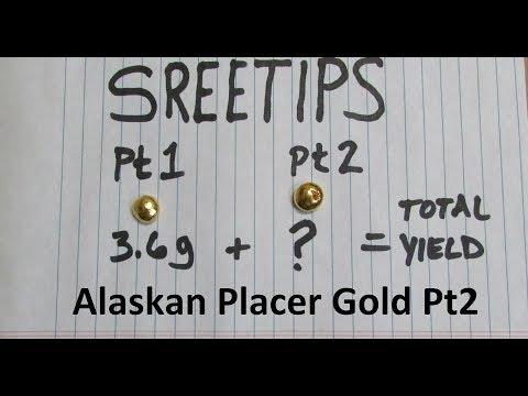 How To Refine Alaskan Placer Gold Part 2of2