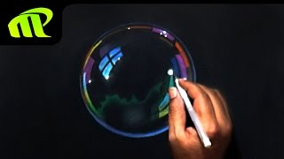 Soap Bubble Drawing - Time Lapse