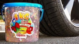 Crushing Crunchy & Soft Things by Car! - EXPERIMENT: GIANT SLIME vs CAR vs FOOD