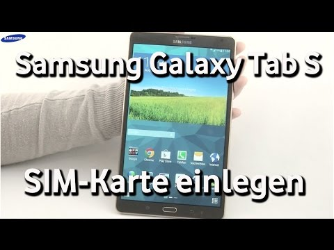samsung galaxy tab s sim karte einlegen youtube. Black Bedroom Furniture Sets. Home Design Ideas