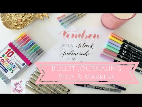 Bullet Journaling Supplies : Pens and Markers