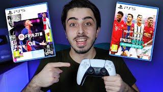 FIFA 21 ve PES 2021 PLAYSTATION 5 OYNANIŞ TESTİ // MENÜLER, KARİYER MODU ve YENİ DUALSENSE İLE MAÇ!