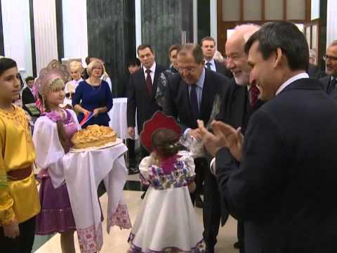 Торжественная церемония открытия нового комплекса Посольства России в Ашхабаде