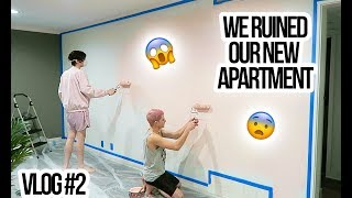 WE RUINED OUR NEW APARTMENT? | TARGET ADVENTURES | Vlog #2 | Kevin & Thomas
