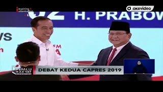 Ini Dia Pernyataan Pamungkas Jokowi dan Prabowo di Debat Kedua Capres 2019