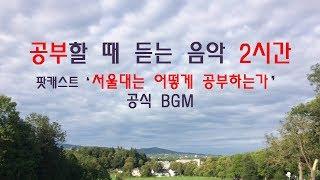 공부자극 ASMR 공부할때 듣는 음악 2시간_서울대는 어떻게 공부하는가 공식 BGM_수험생 힐링 음악