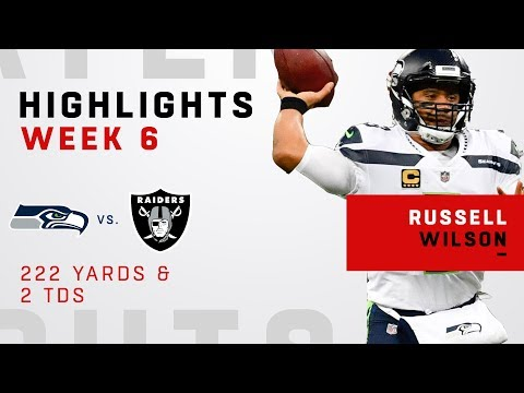 Russell Wilson\'s Double-TD Day vs. Raiders