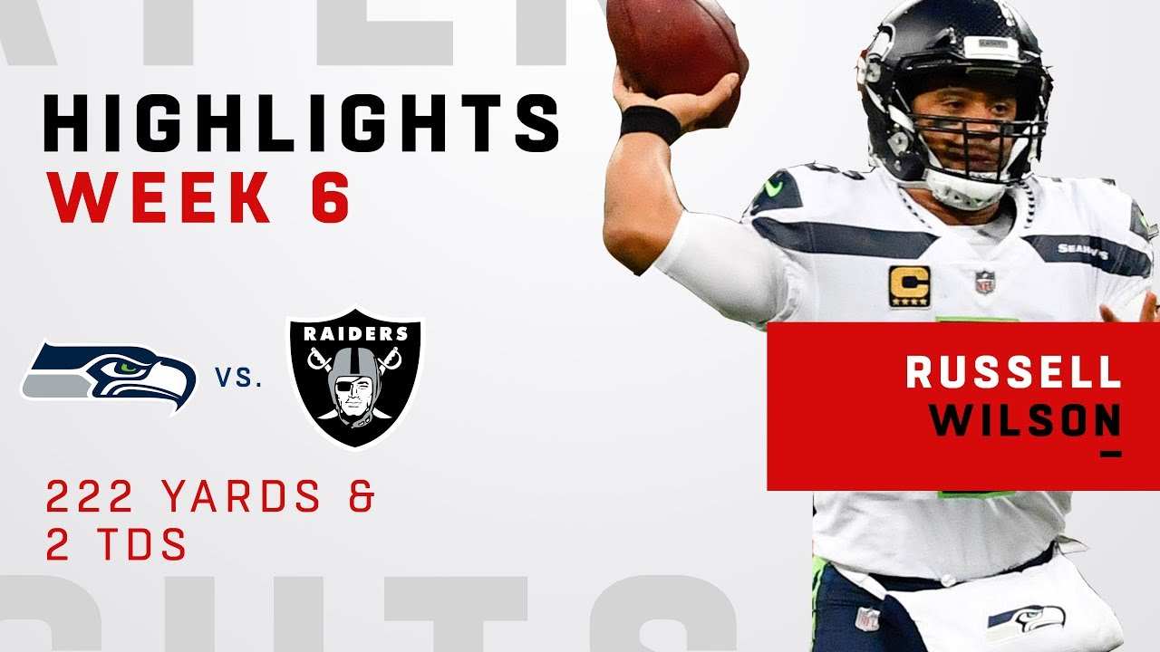 Russell Wilson's Double-TD Day vs. Raiders