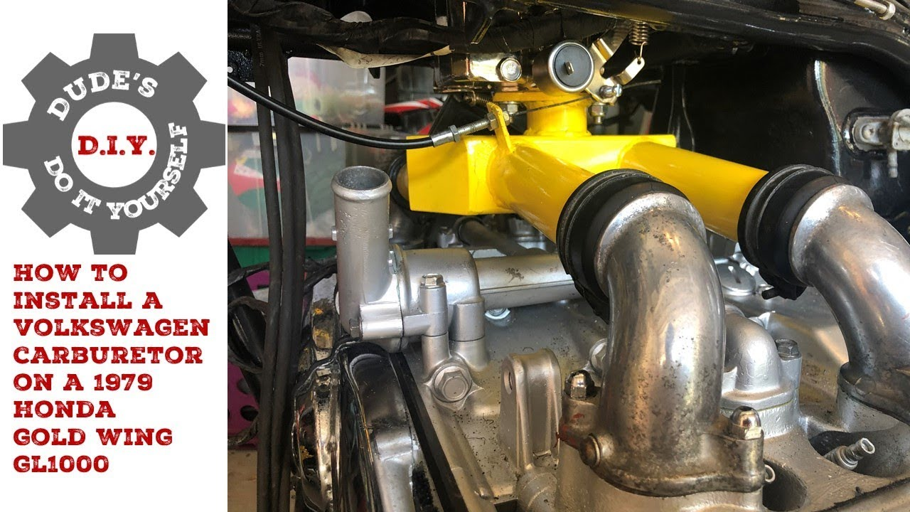 How to Install a VW Carb on a 1979 Honda Gold Wing 1000