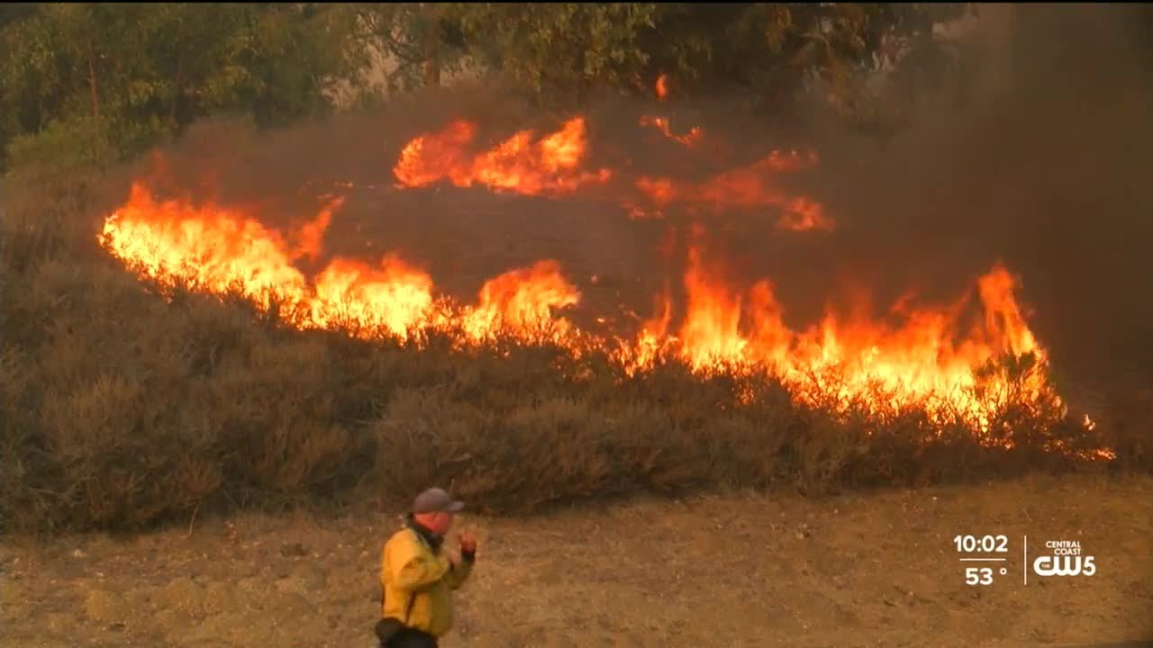 Alisal Fire in California has prompted evacuations, road and Amtrak ...