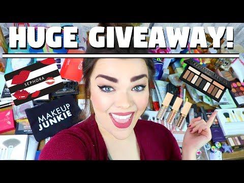 HUGE MAKEUP & BEAUTY GIVEAWAY + A SURPRISE! | 3 WINNERS! 65K Makeup Giveaway!