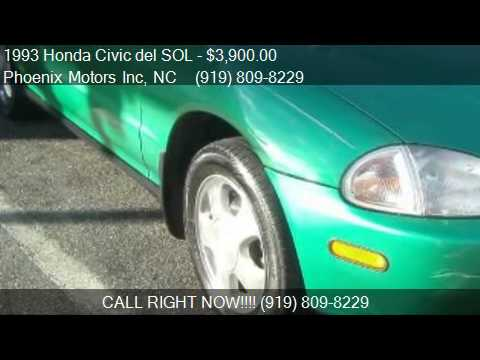 1993 Honda Civic del SOL Si for sale in Raleigh, NC 27610 at
