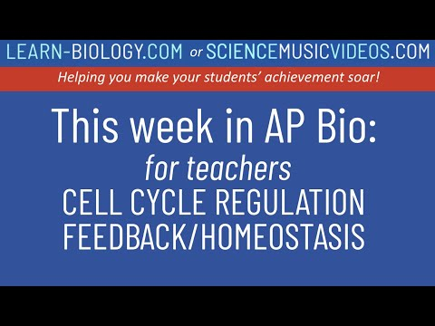 This Week In Ap Bio On Sciencemusicvideos Com Episode 2 Cell Cycle Regulation Feedback Homeostasis Youtube