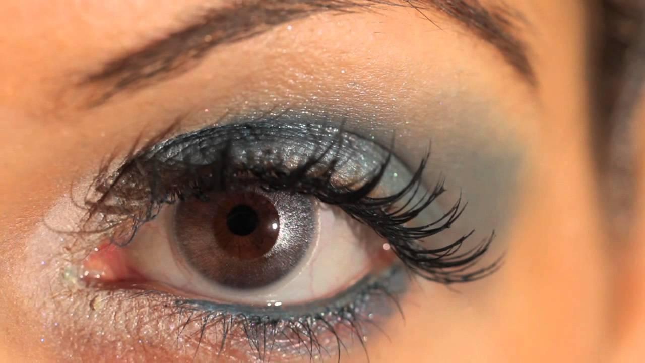 Silver Mirror Coloured Contact Lenses Youtube