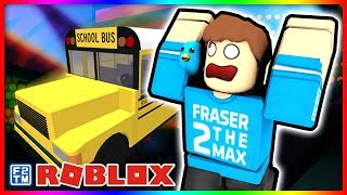 I am Crazy School Bus Driver and I drive the Bus off a Cliff in RoCitizens on Roblox
