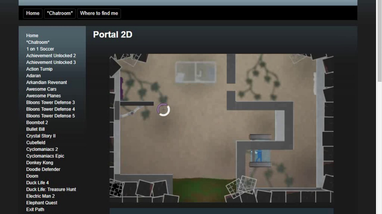 Unblocked Games Portal 2d Gamesworld